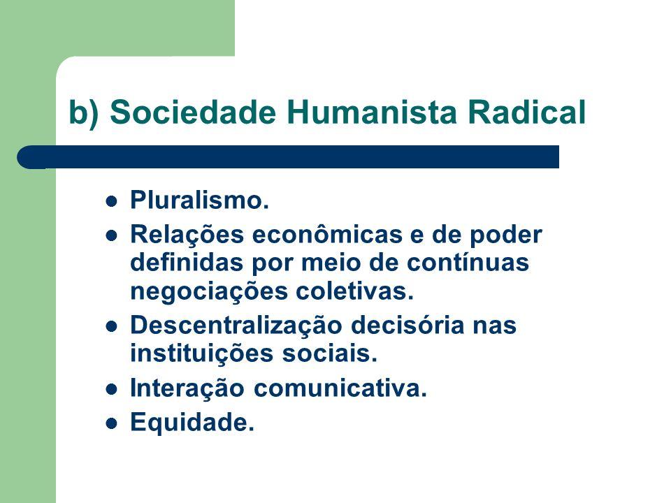 b) Sociedade Humanista Radical