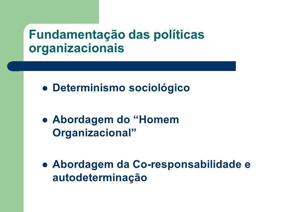 Fundamentação das políticas organizacionais