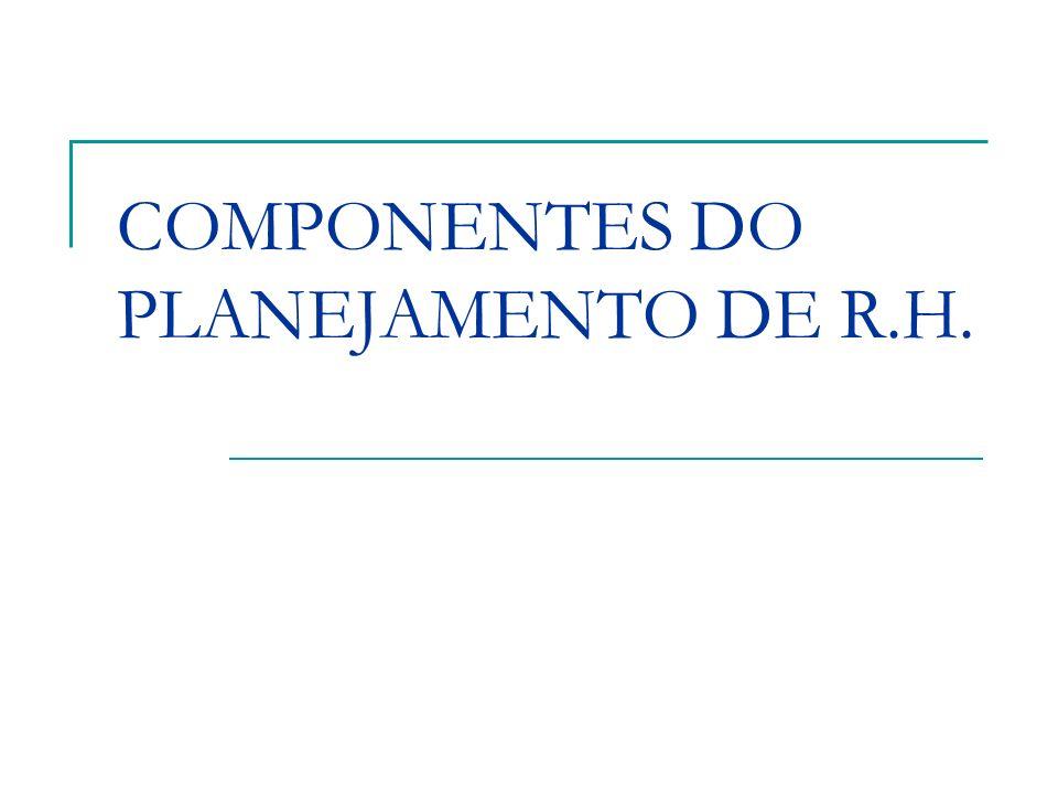 COMPONENTES DO PLANEJAMENTO DE R.H.