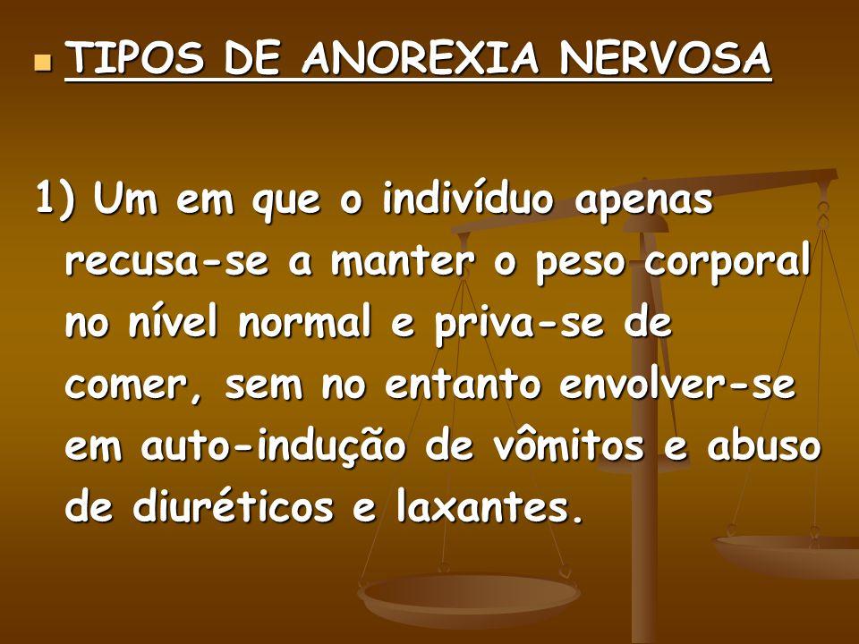 TIPOS DE ANOREXIA NERVOSA
