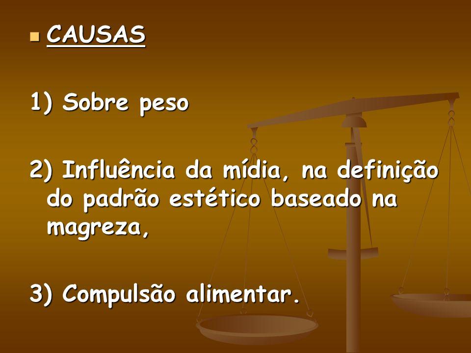 CAUSAS 1) Sobre peso.