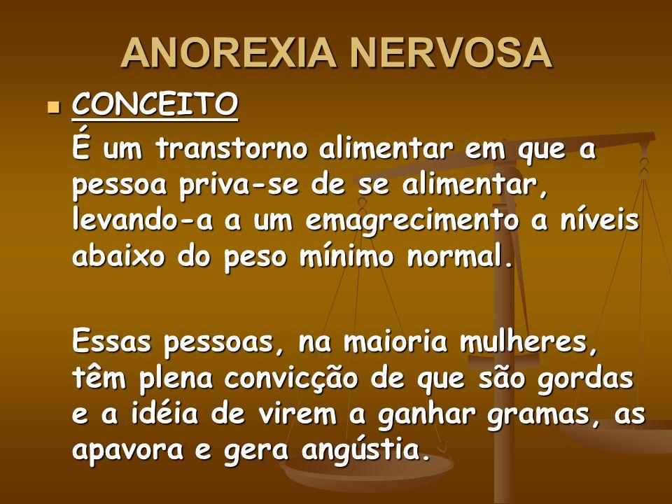 ANOREXIA NERVOSA CONCEITO