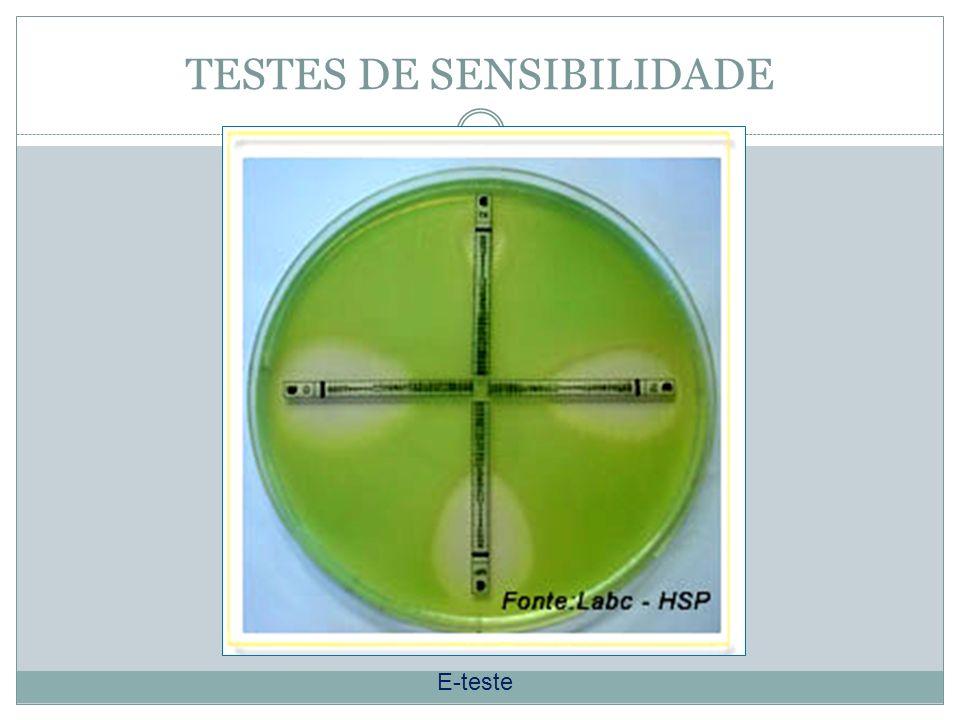 TESTES DE SENSIBILIDADE