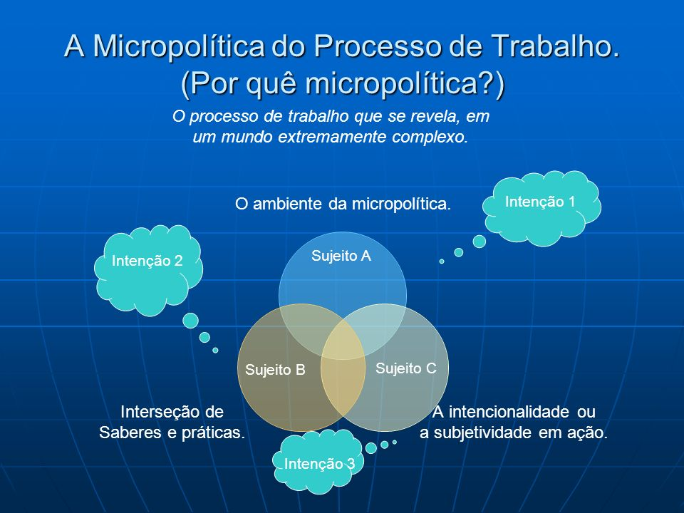 A Micropolítica do Processo de Trabalho. (Por quê micropolítica )
