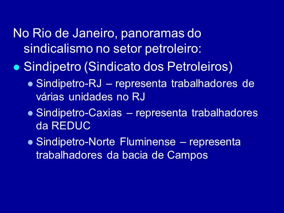 No Rio de Janeiro, panoramas do sindicalismo no setor petroleiro: