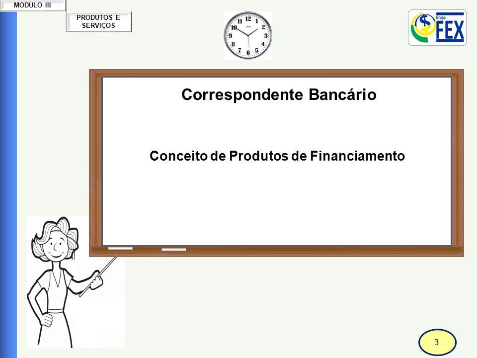 Correspondente Bancário Conceito de Produtos de Financiamento
