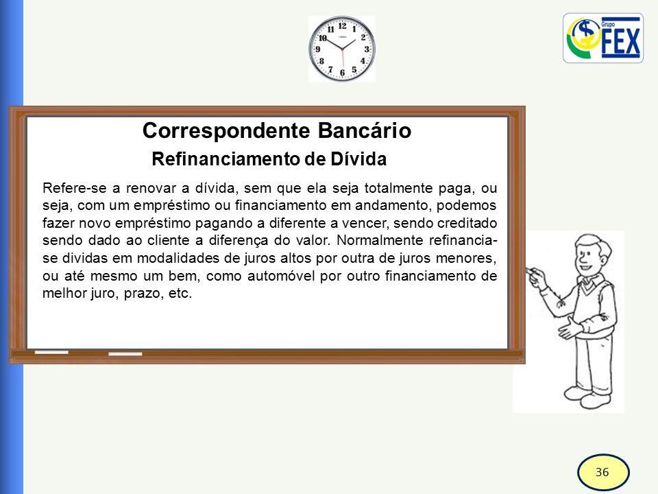 Correspondente Bancário Refinanciamento de Dívida