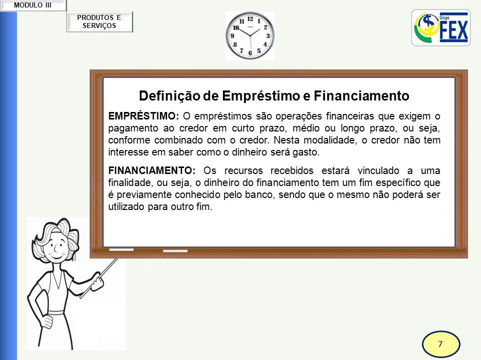 Definição de Empréstimo e Financiamento Correspondente Bancário