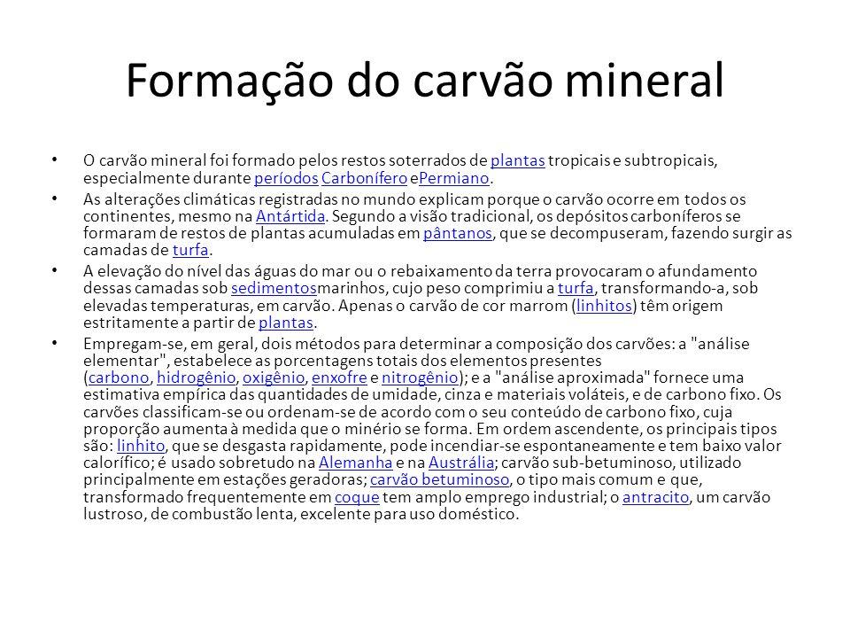 Formação do carvão mineral