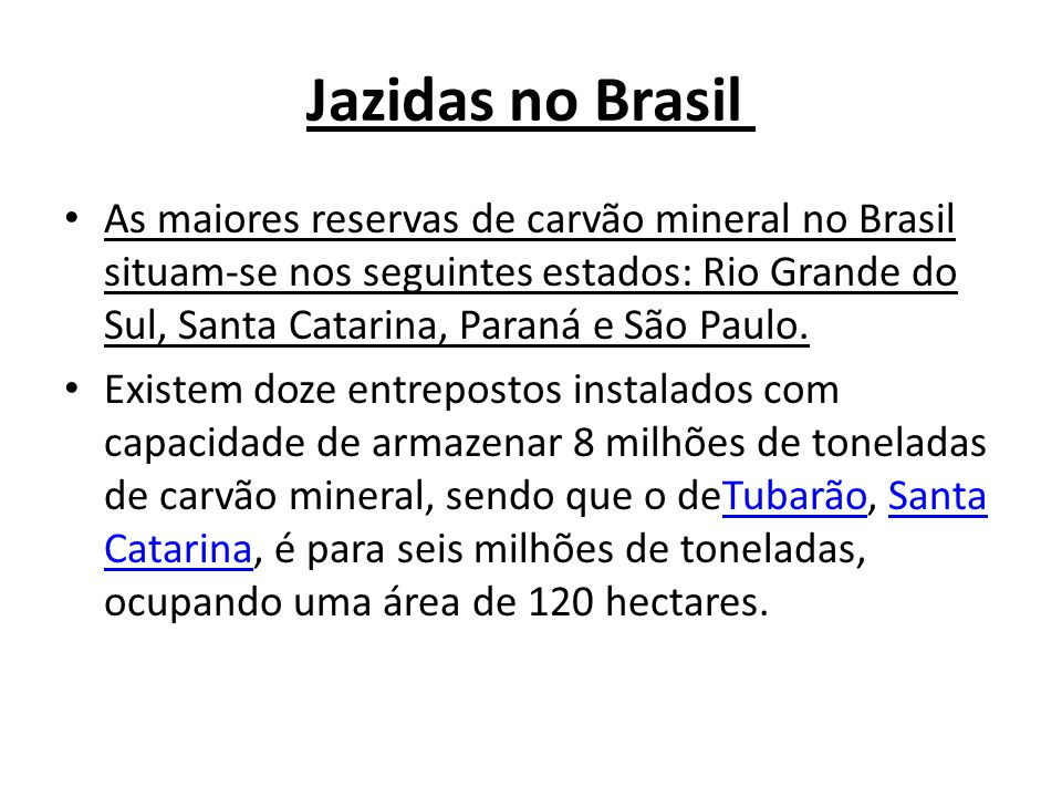 Jazidas no Brasil