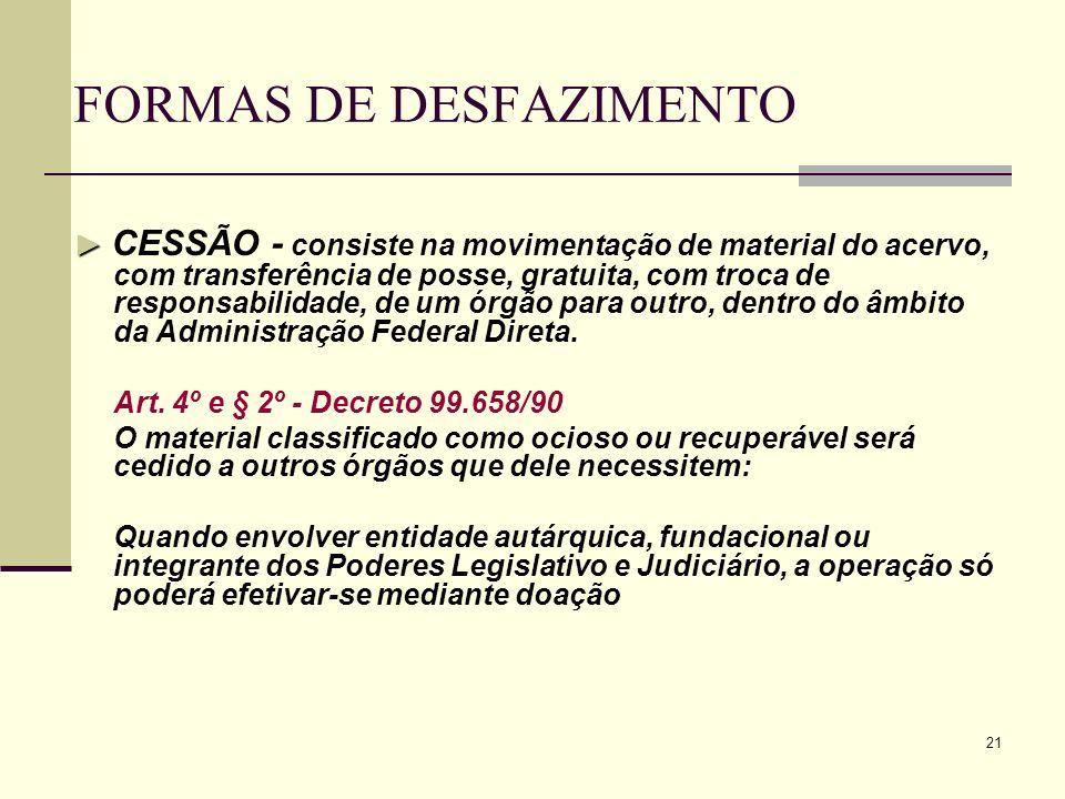 FORMAS DE DESFAZIMENTO