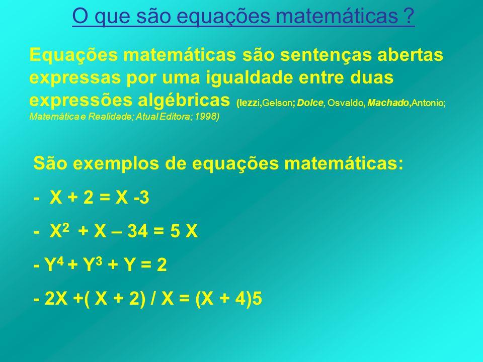 O que são equações matemáticas