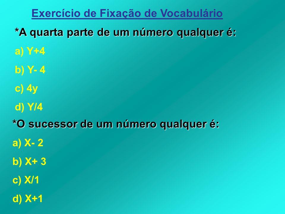 Exercício de Fixação de Vocabulário