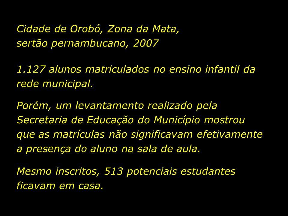 Cidade de Orobó, Zona da Mata, sertão pernambucano, 2007