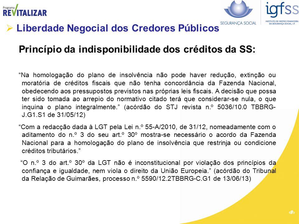  Liberdade Negocial dos Credores Públicos