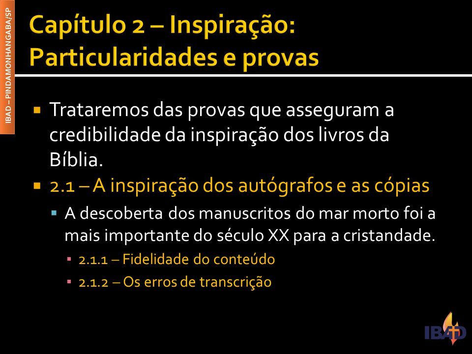 Capítulo 2 – Inspiração: Particularidades e provas