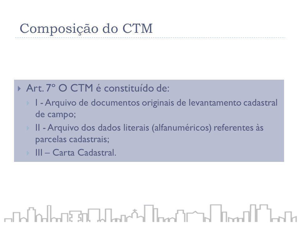 Composição do CTM Art. 7º O CTM é constituído de: