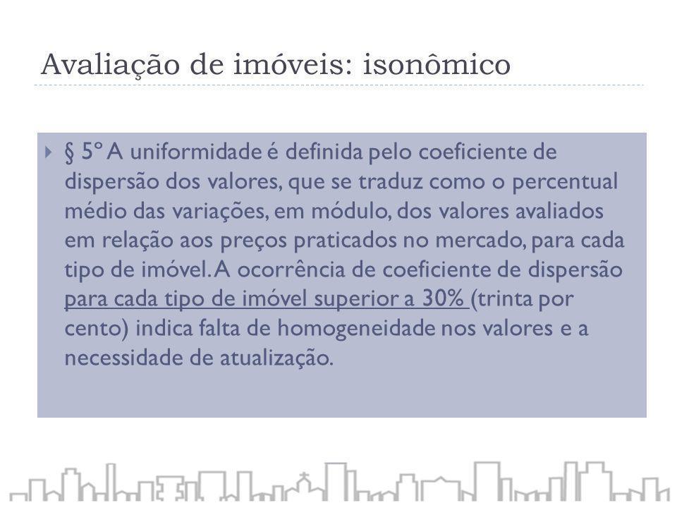Avaliação de imóveis: isonômico