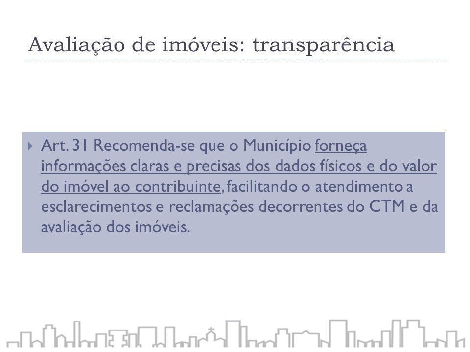 Avaliação de imóveis: transparência