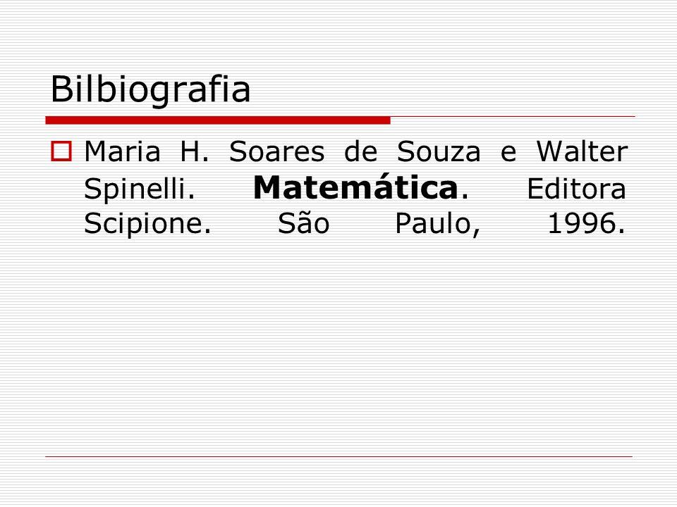 Bilbiografia Maria H. Soares de Souza e Walter Spinelli.