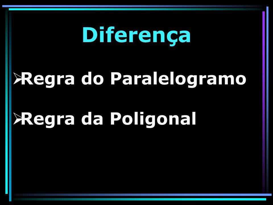 Diferença Regra do Paralelogramo Regra da Poligonal