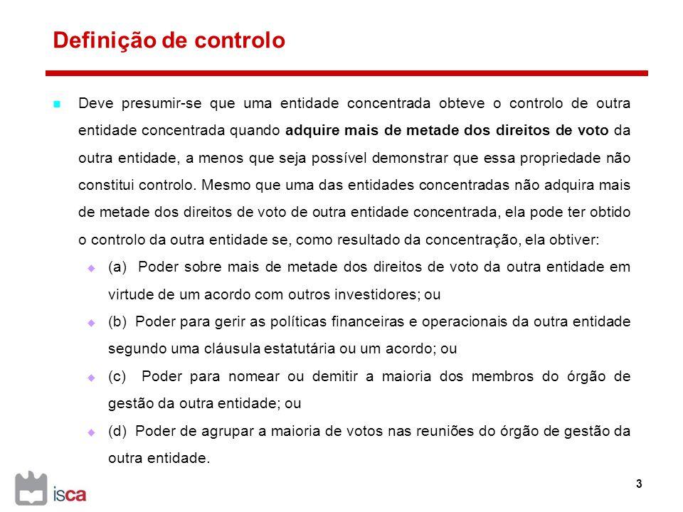 Definição de controlo