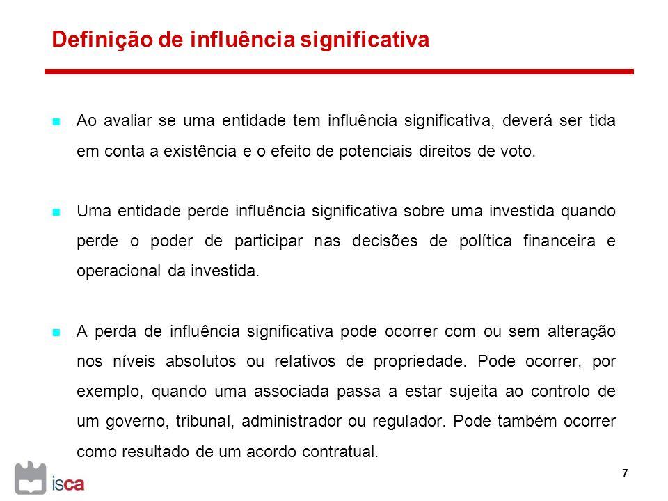 Definição de influência significativa