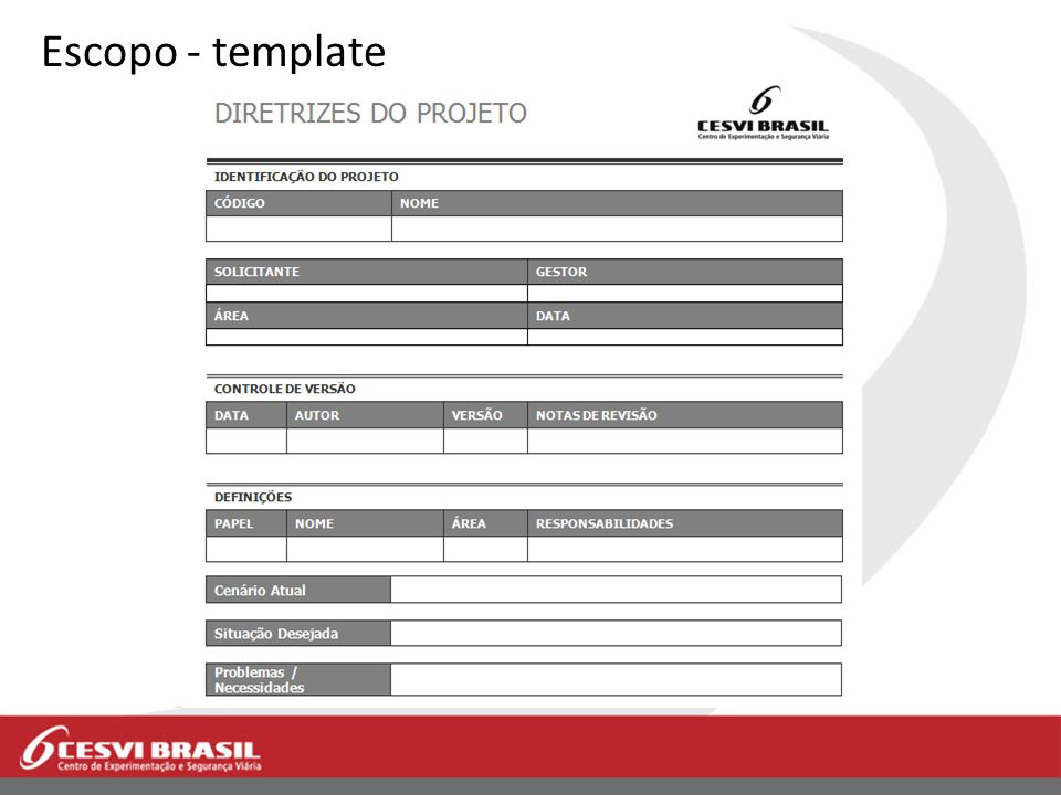 Escopo - template