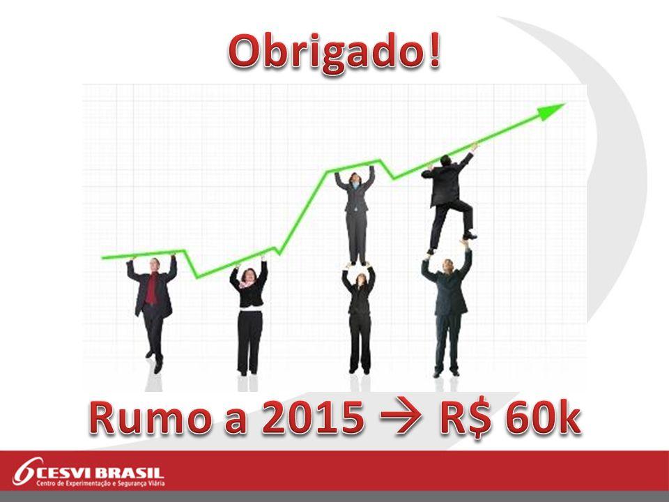 Obrigado! Rumo a 2015  R$ 60k