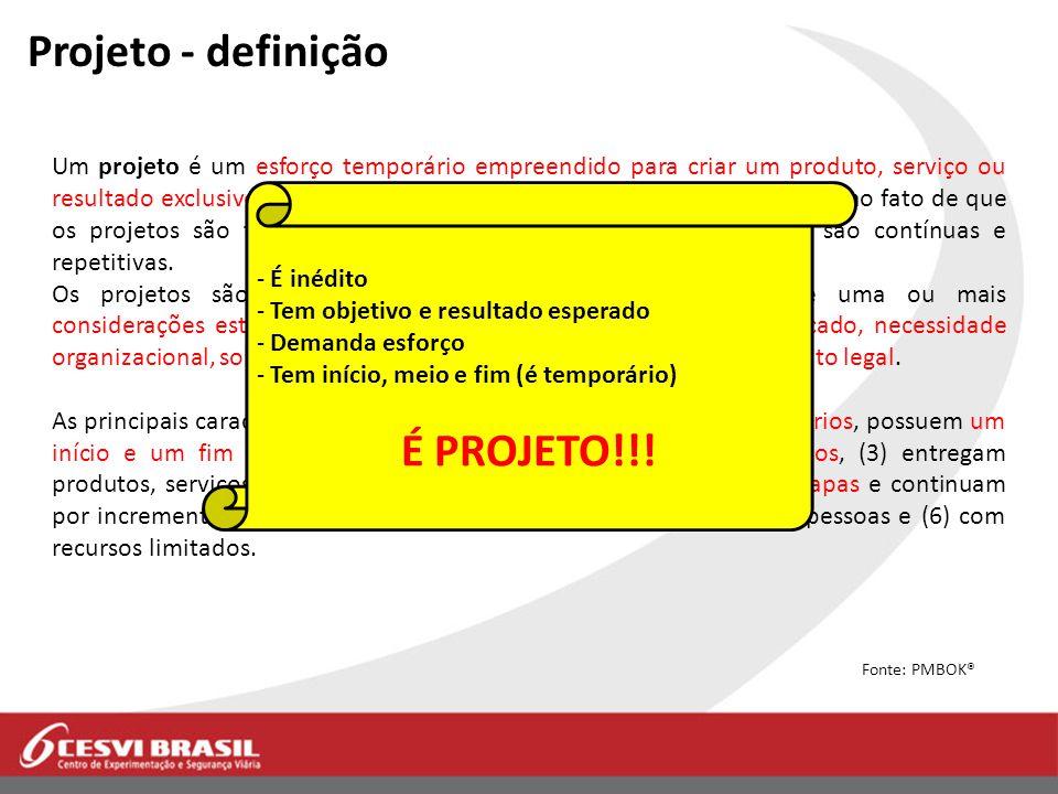 Projeto - definição É PROJETO!!!