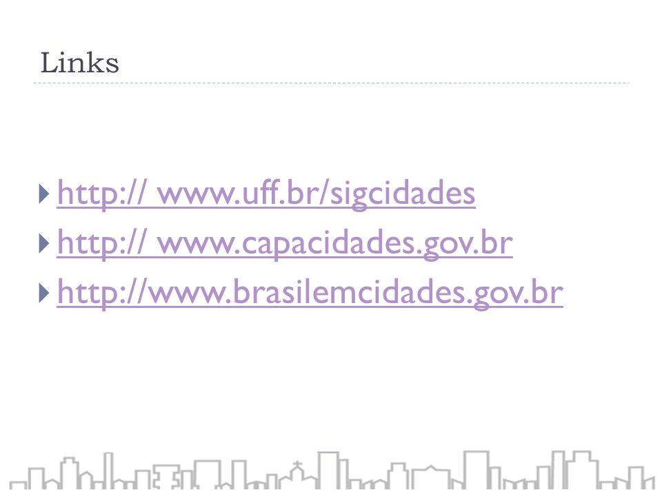 http:// www.uff.br/sigcidades http:// www.capacidades.gov.br