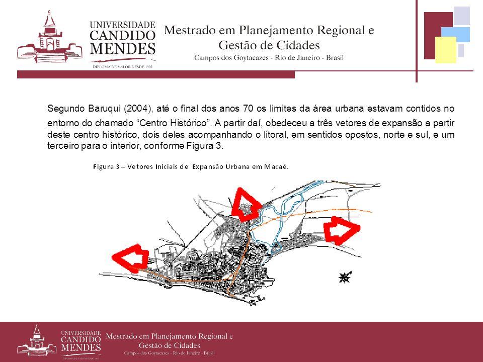 Segundo Baruqui (2004), até o final dos anos 70 os limites da área urbana estavam contidos no entorno do chamado Centro Histórico .
