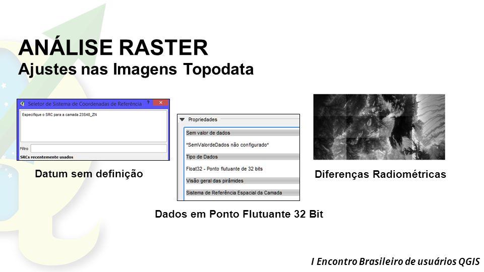 ANÁLISE RASTER Ajustes nas Imagens Topodata Datum sem definição