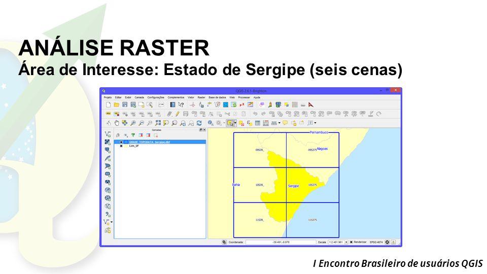 ANÁLISE RASTER Área de Interesse: Estado de Sergipe (seis cenas)