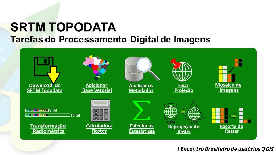 SRTM TOPODATA Tarefas do Processamento Digital de Imagens Calculadora