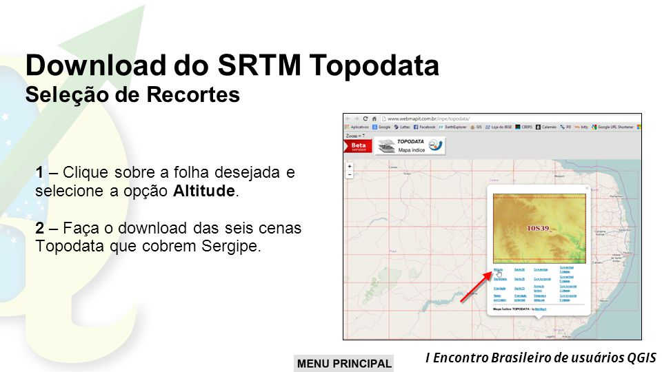 Download do SRTM Topodata