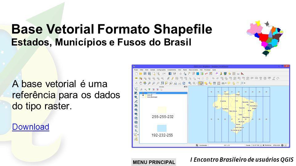 Base Vetorial Formato Shapefile