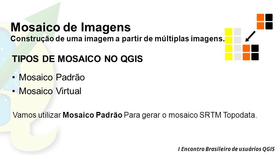 Mosaico de Imagens TIPOS DE MOSAICO NO QGIS Mosaico Padrão