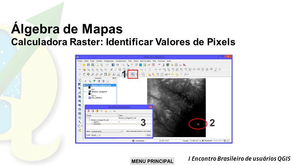 Álgebra de Mapas Calculadora Raster: Identificar Valores de Pixels