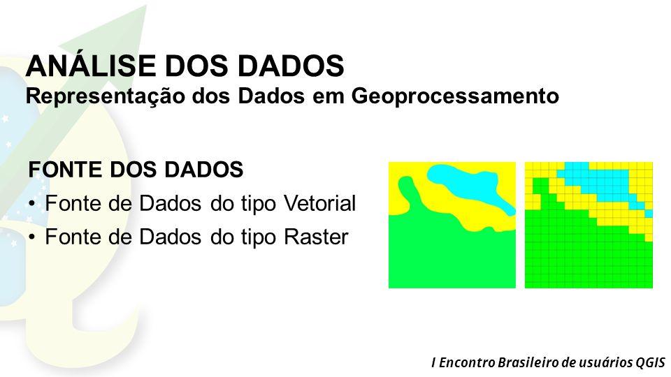 ANÁLISE DOS DADOS Representação dos Dados em Geoprocessamento