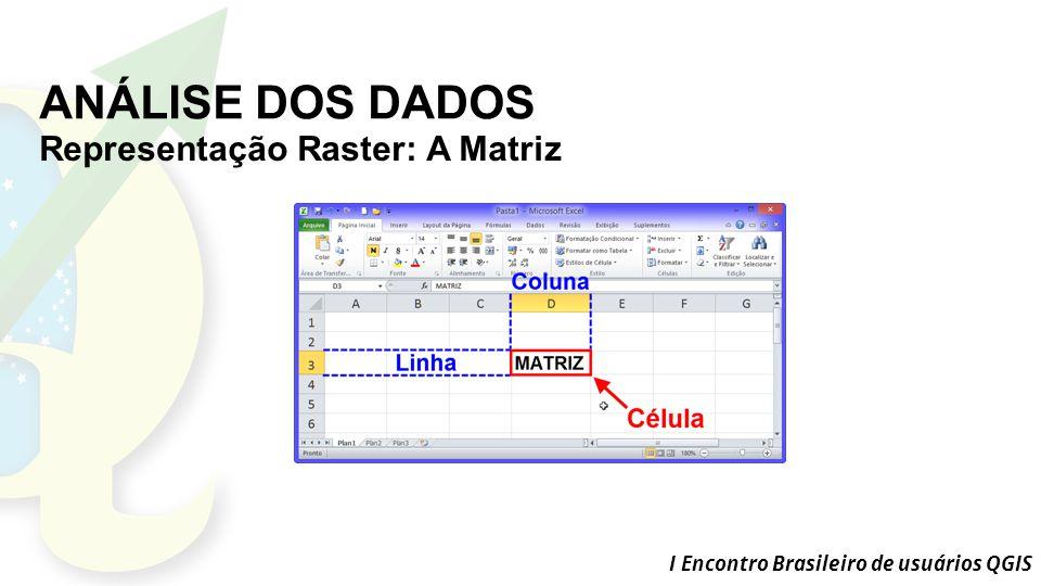 ANÁLISE DOS DADOS Representação Raster: A Matriz