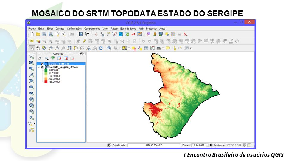 MOSAICO DO SRTM TOPODATA ESTADO DO SERGIPE