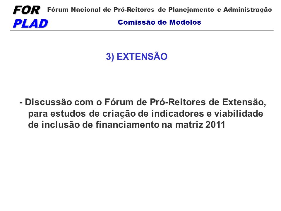 3) EXTENSÃO