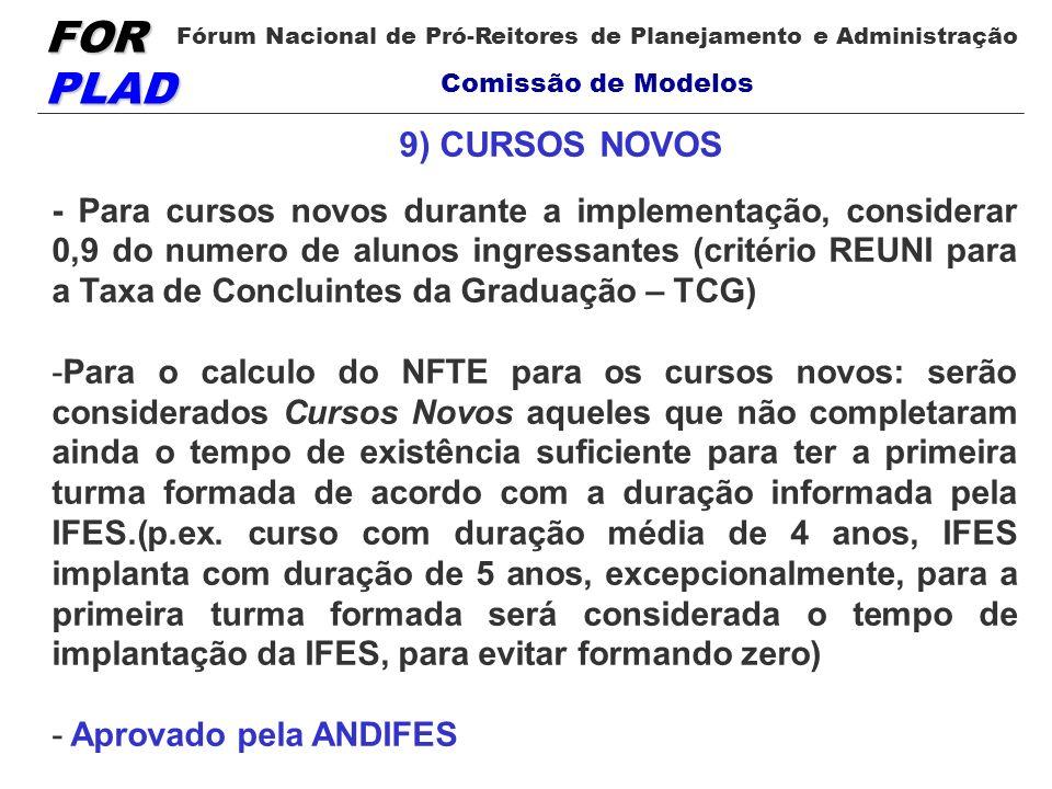 9) CURSOS NOVOS