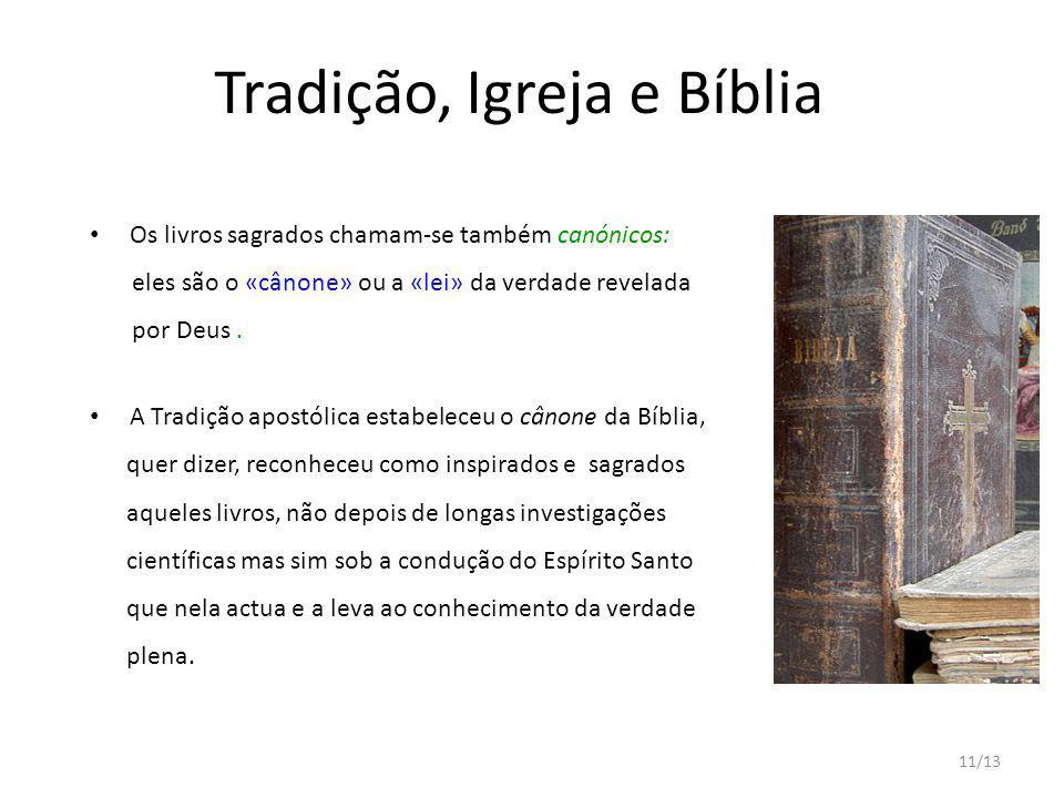 Tradição, Igreja e Bíblia
