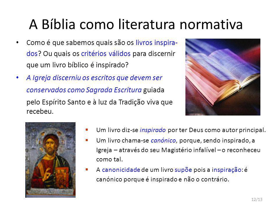 A Bíblia como literatura normativa