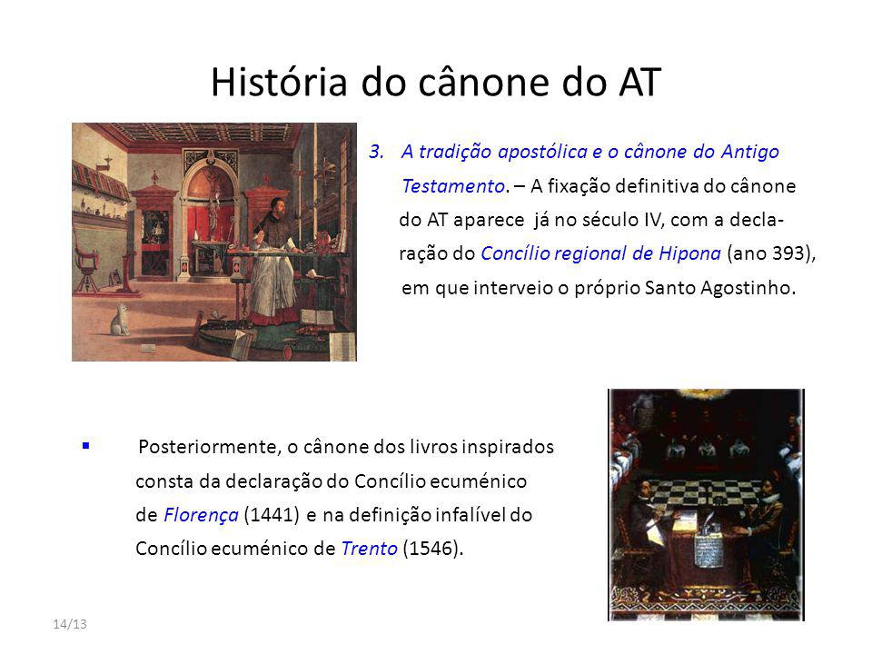 História do cânone do AT