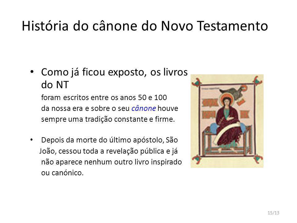 História do cânone do Novo Testamento