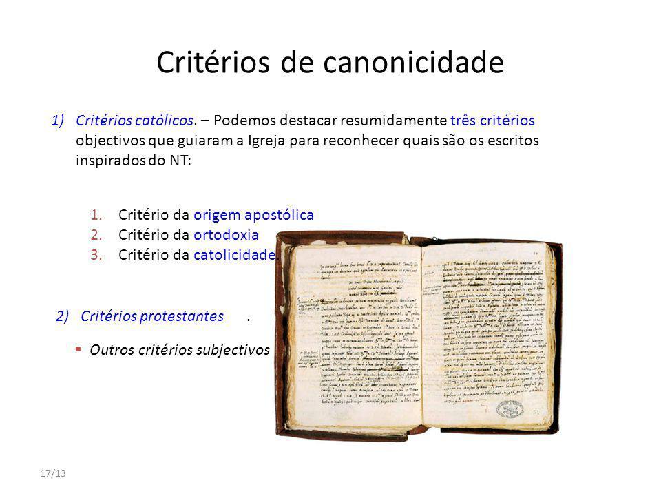 Critérios de canonicidade