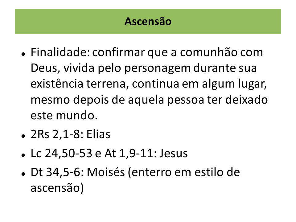 Dt 34,5-6: Moisés (enterro em estilo de ascensão)